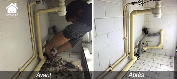 Fuite d'eau sous évier, plombier Paris