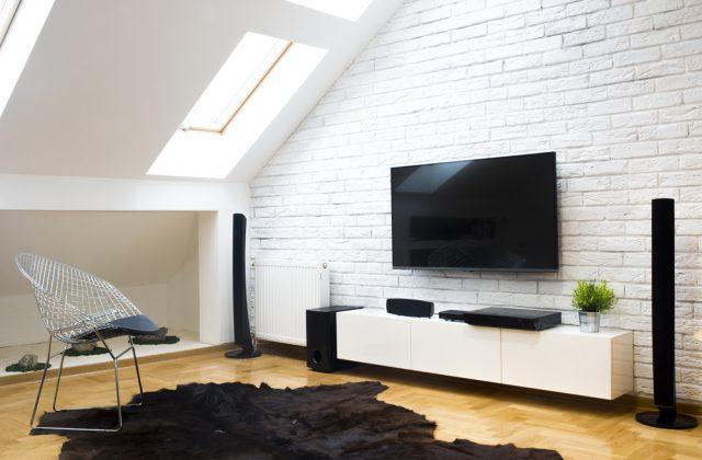 Télévision fixation au mur