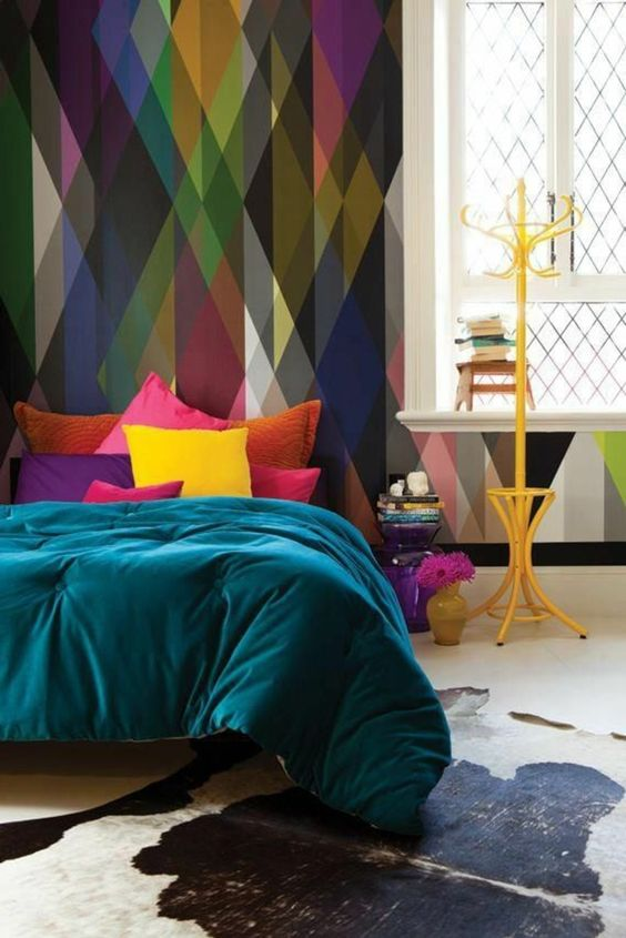 Idées déco - Papier peint coloré couleur joyeuse et vive