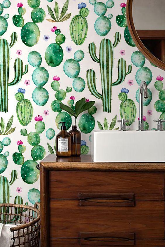 Idées déco - Papier peint motif végétal
