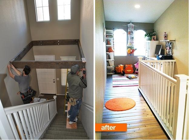 Un espace supplémentaire au-dessus de votre escalier