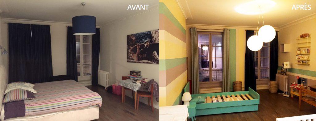Charmant Peinture Chambre   Avant/après Idée Déco