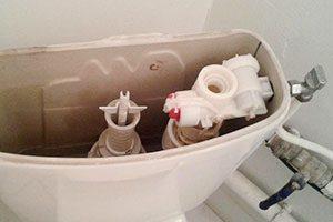 Problème plomberie - fuite chasse d'eau cuvette