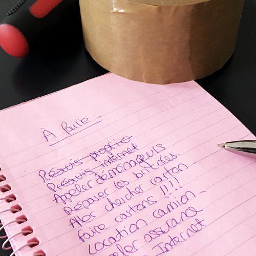 Checklist déménagement - liste des choses à faire avant de déménager et d'emménager