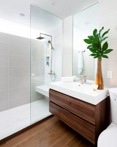 aménagement salle de bains - douche