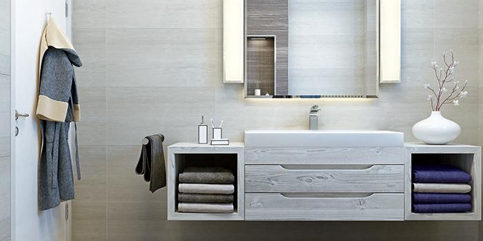 Aménagement salle de bains - le mobilier