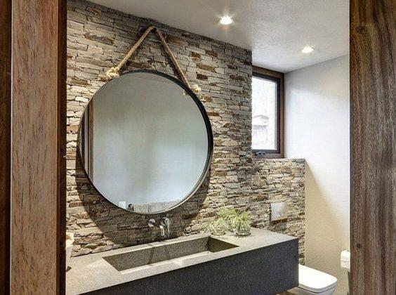 prix rénovation salle de bains - haut de gamme avec matériaux bruts