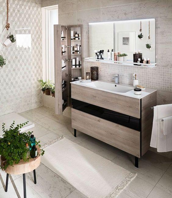 Idee Meuble Salle De Bains Tendances Colonne Vasque Et Miroir