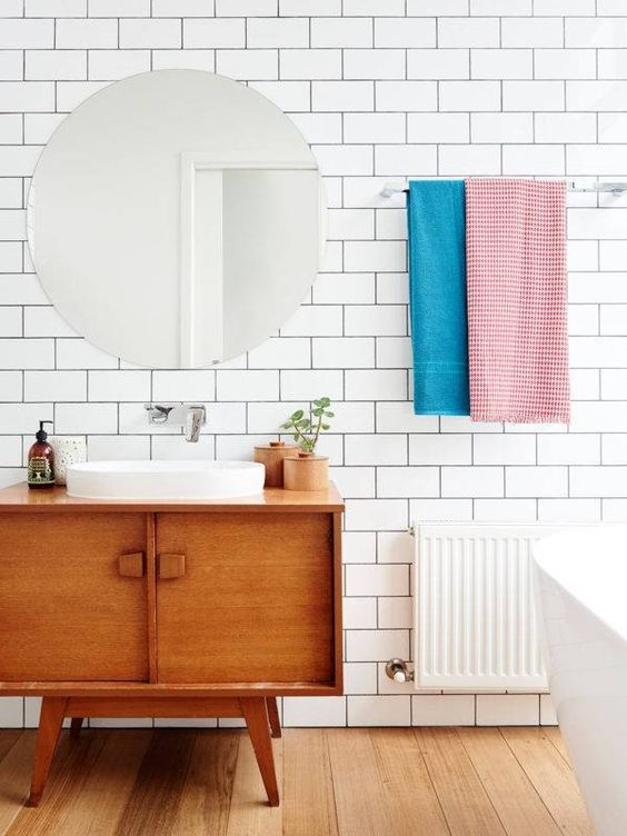 idée meuble salle de bains - meuble rétro