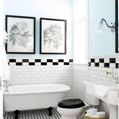 ambiances salle de bains, rétro