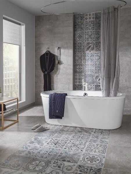 idée carrelage salle de bains - revetement-sols-salle-de-bains-carrelage-sol-et mur