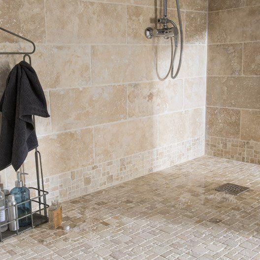 idée carrelage salle de bains - revetement-sols-salle-de-bains-pierre