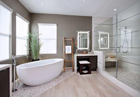 idée carrelage salle de bains - revetement-sols-salle-de-bains-moderne