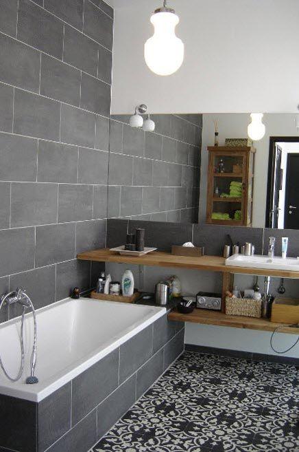 déco meubles de salle de bains carrelage à motifs
