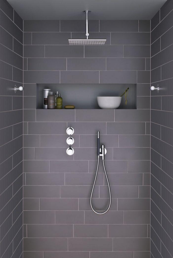 déco meubles de salle de bains - rangement douche