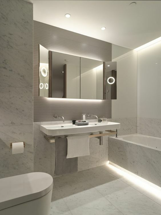 rénovation salle de bains - un éclairage adapté