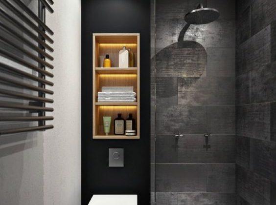spots douche italienne salle de bain
