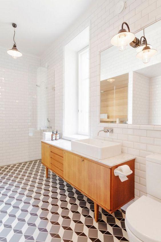 applique salle de bains vintage