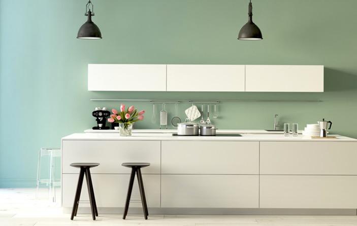 peinture verte cuisine
