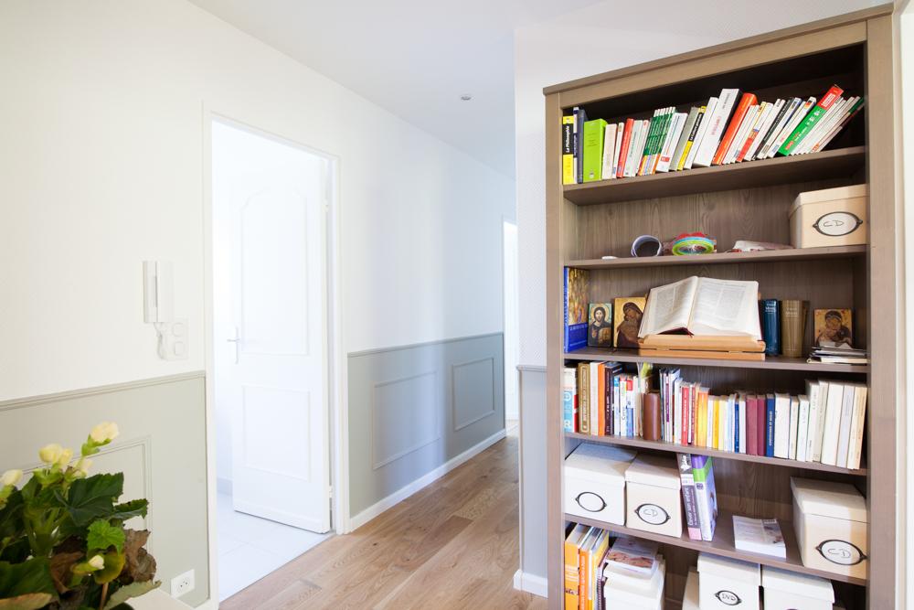 Travaux de rénovation de l'appartement: le couloir après