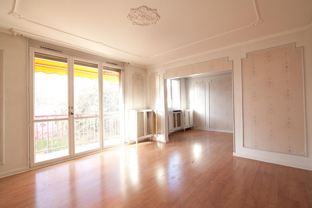 Travaux de rénovation d'appartement: le salon avant