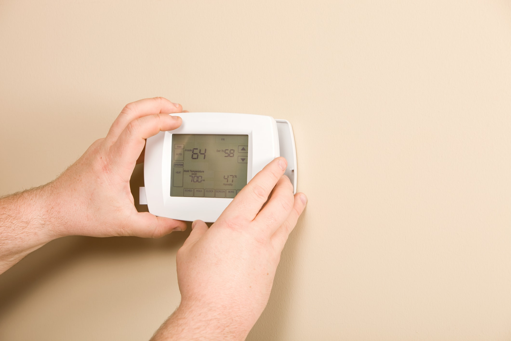 installation d'un thermostat