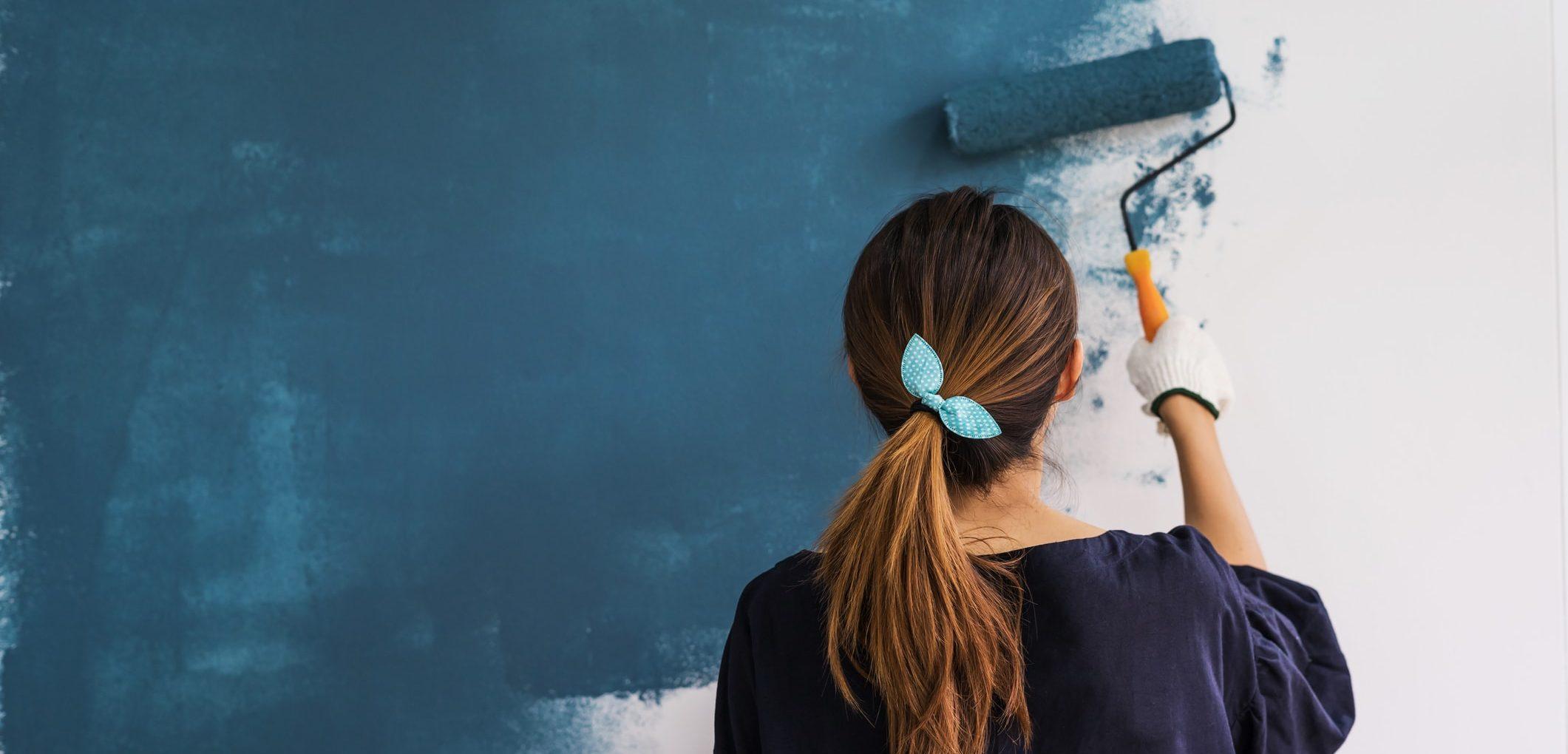 peinture en revêtement de murs