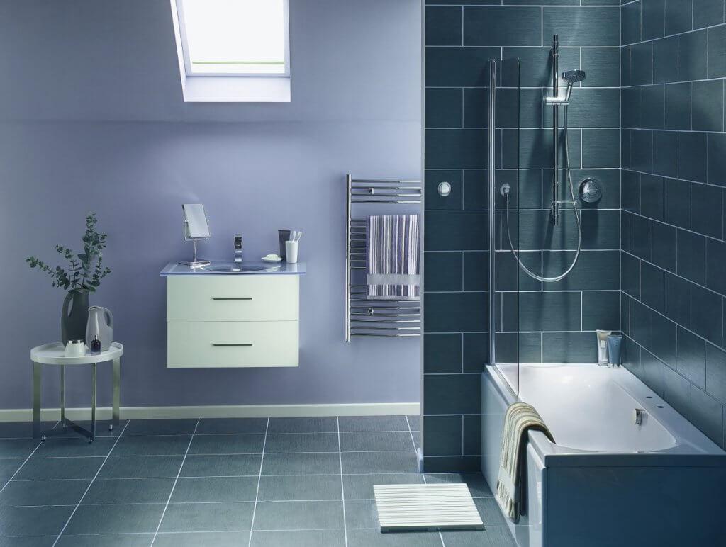 salle de bains en carrelage