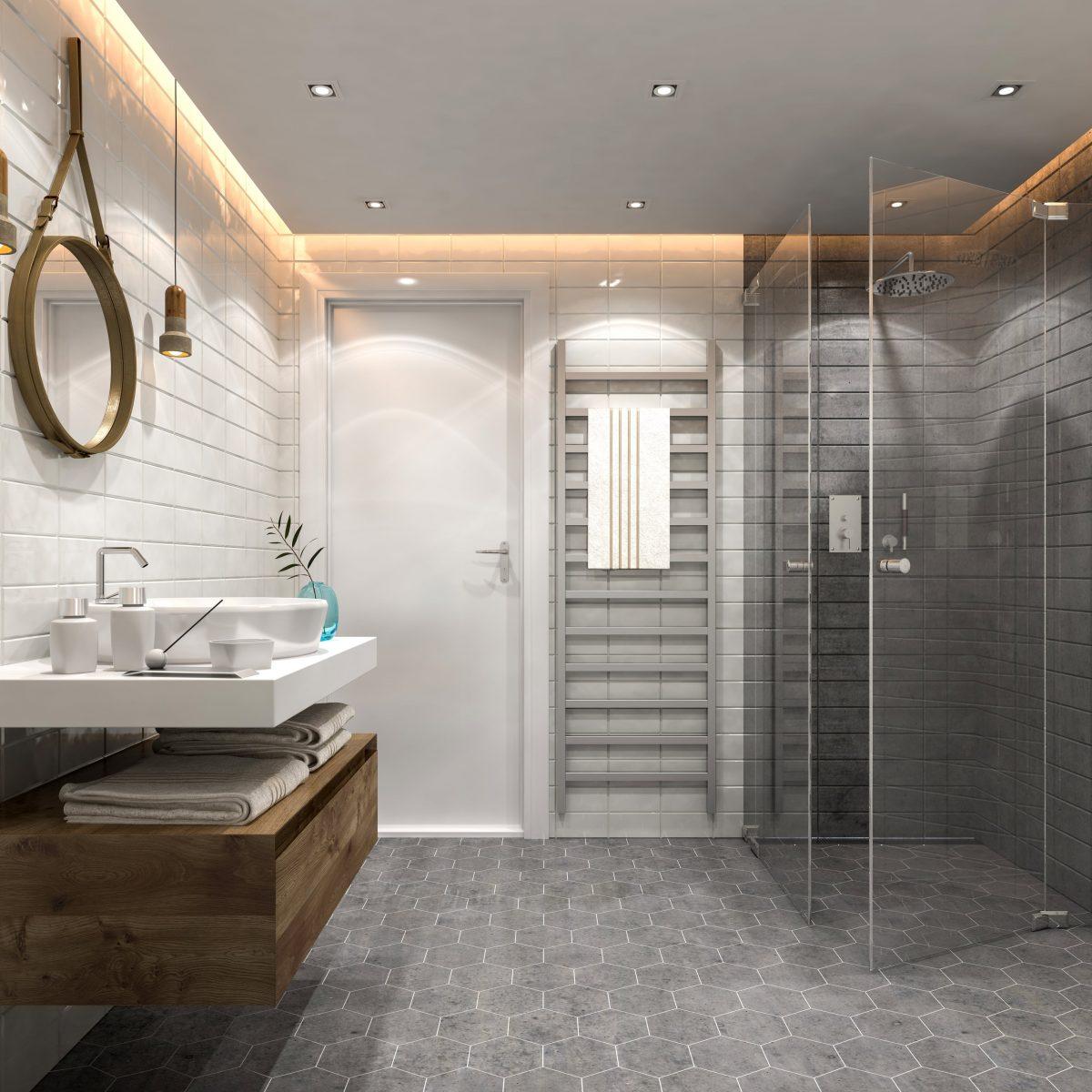 Installation d'une douche a l'italienne