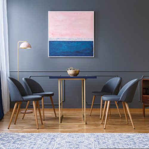 salle-a-manger-peinture-grise