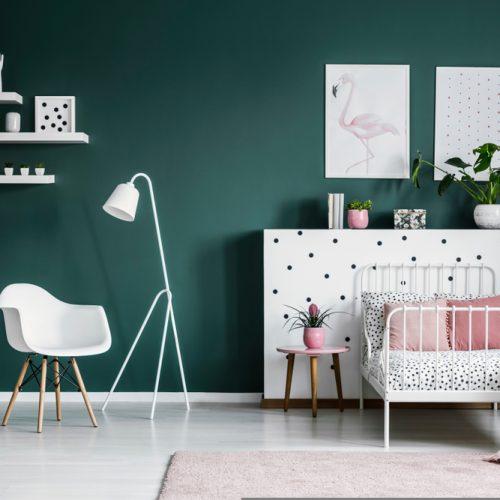 chambre-fille-peinture-vert