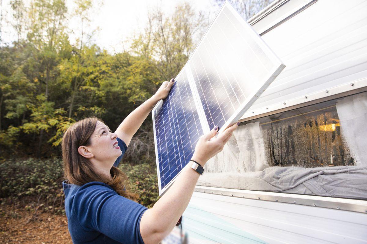 installation panneau solaire mobile home