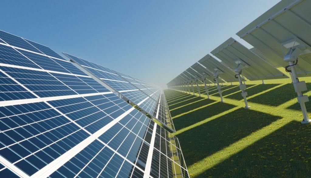 panneau solaire champ