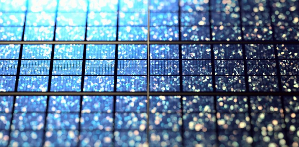 cellule panneau solaire polycristallin bleu