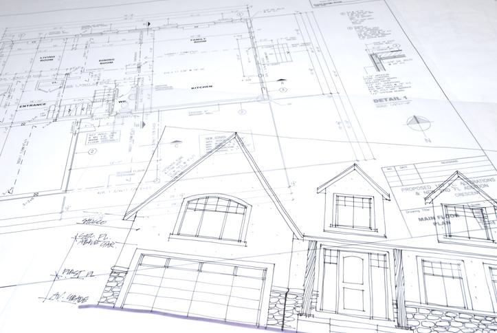 Le plan détaillé d'une maison