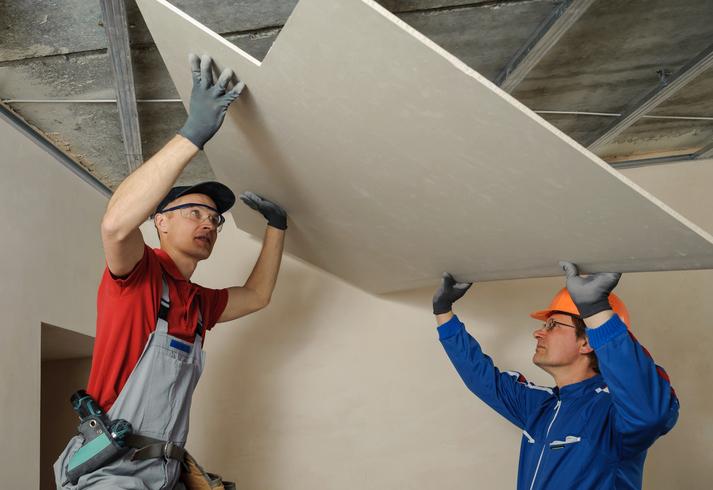 La pose d'un faux plafond en placo