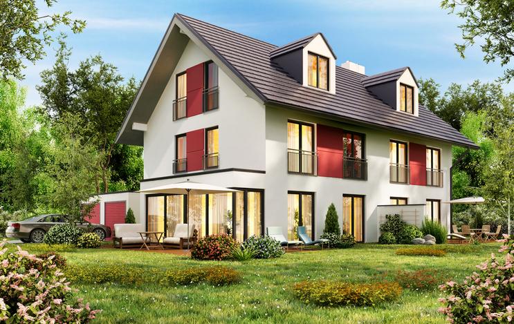 Une maison contemporaine construite sur un terrain champêtre