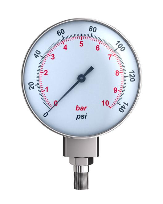 Un manomètre pour mesurer la pression d'eau