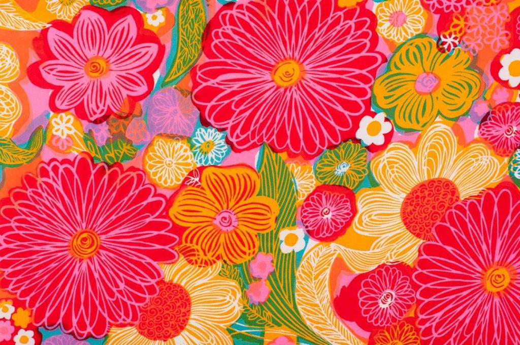 papier-peint-motif-floral