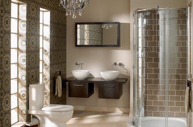 Le papier peint dans la salle de bains, c'est possible