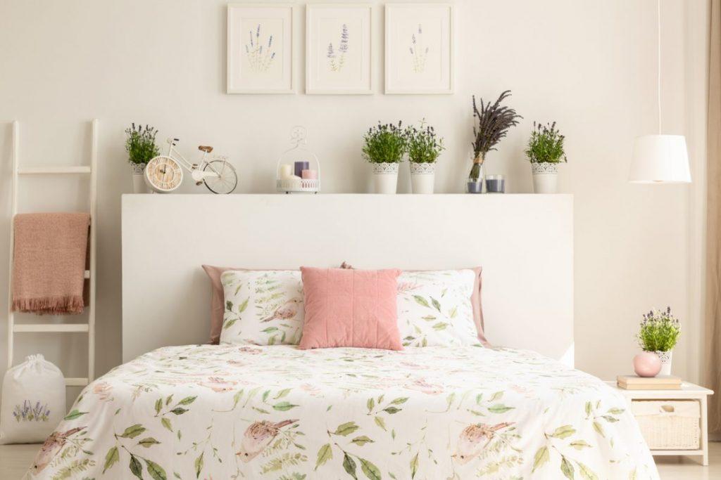 petite chambre amenagement tete de lit