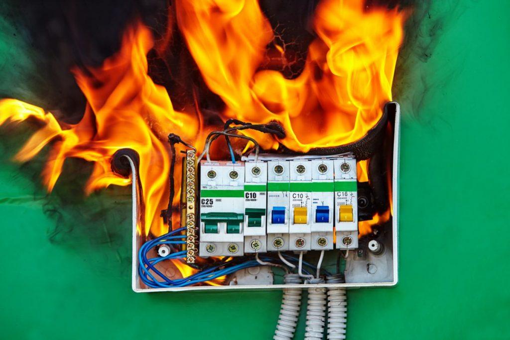 incendie tableau electrique