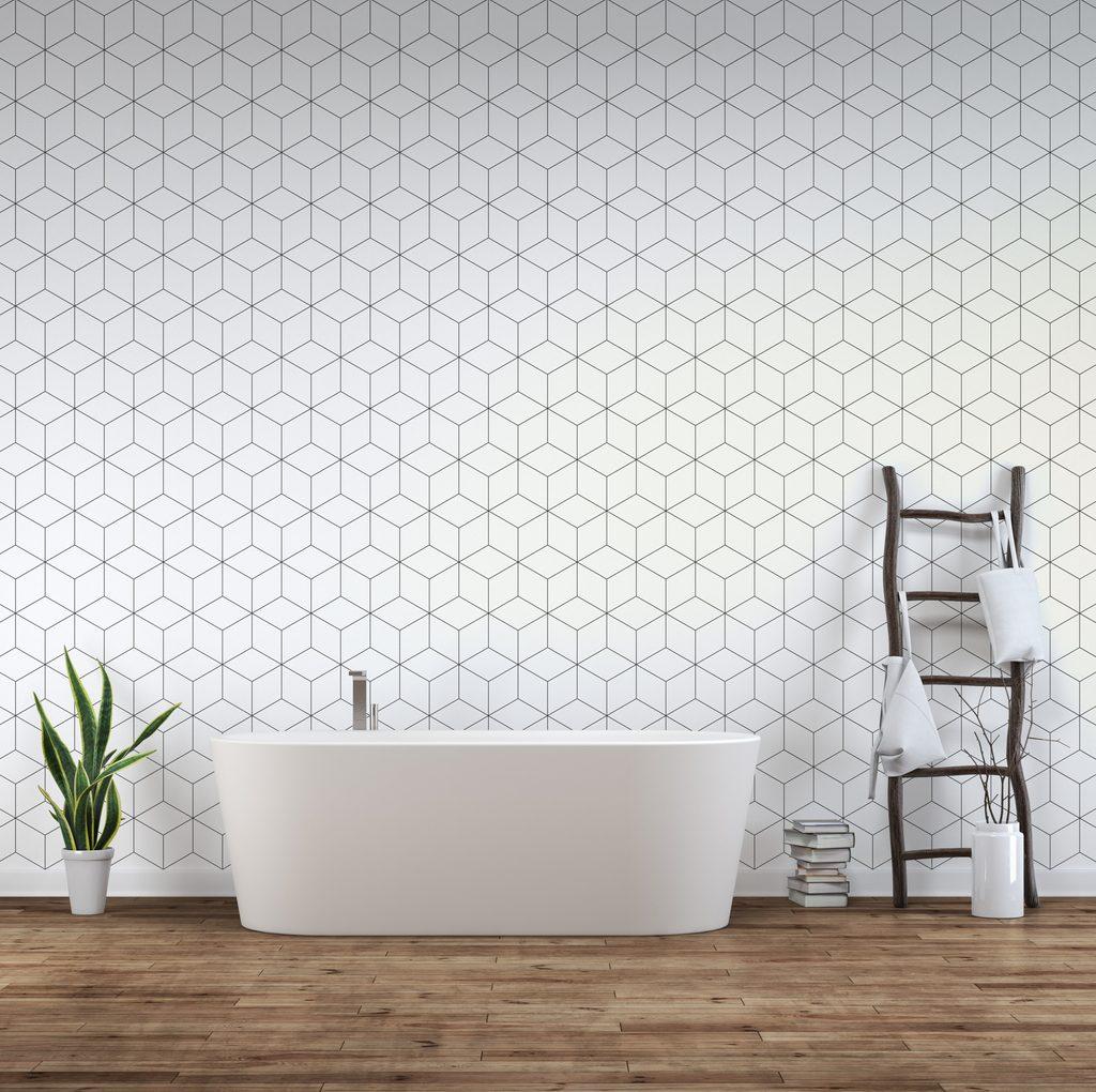 papier peint salle de bain