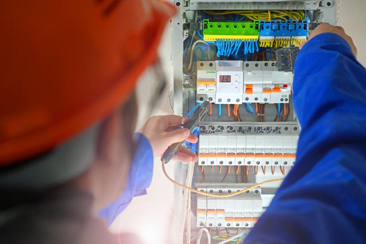 tableau electrique bornier
