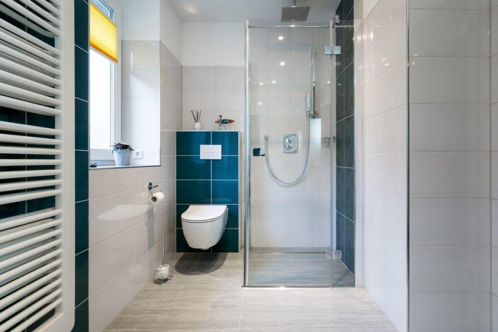 petite salle de bain avec douche à l'italienne et deco moderne