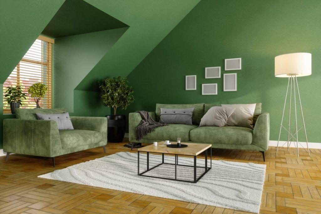 salon-vert-couleurs-chaudes-pour-un-salon