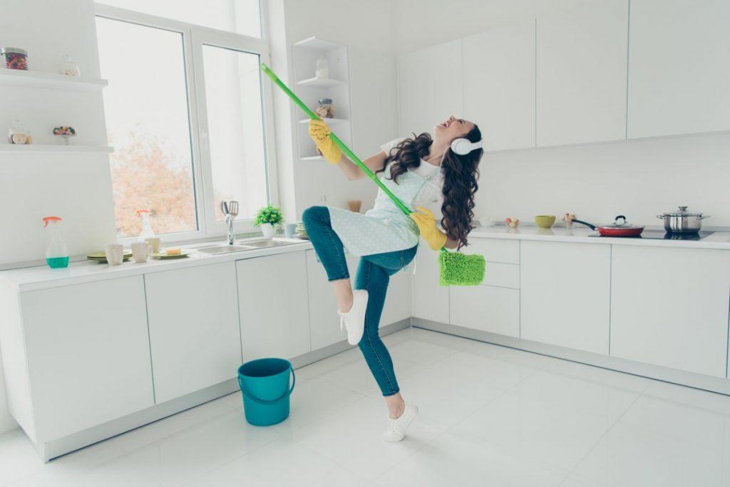 sols faciles à nettoyer cuisine