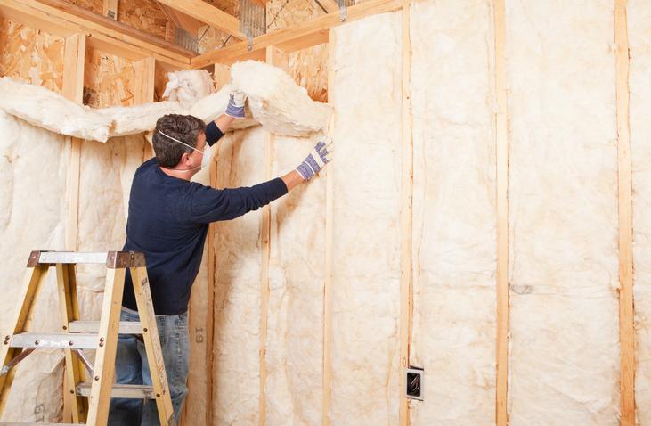 Travaux d'isolation thermique d'un mur