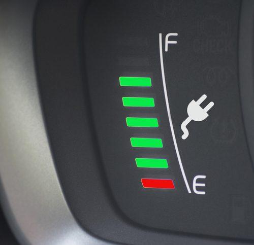 L'indicateur de charge d'une voiture électrique