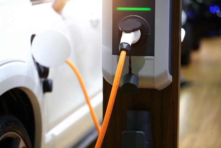 Une borne de recharge pour véhicule électrique
